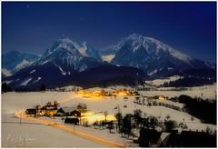 Oberweng Mondnacht II (Karl Glinsner) Tags: landschaft landscape österreich austria oberösterreich upperaustria winter windischgarsten phyrgas oberweng outdoors gebirge mountains schnee snow mond moon mondlicht moonlight nacht night