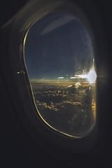 Window Seat (Leighton Wallis) Tags: sony alpha a7r mirrorless ilce7r 55mm f18 emount 1635mm f40 brisbane qld queensland australia plane airplane window cloud sunrise dawn