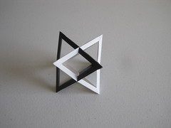 Two Intersecting Tetrahedra (Multiple Designers) (mborigami) Tags: origami paper paperfolding folding wireframe modularorigami