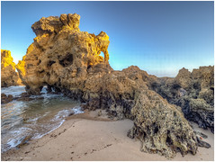 Arrifes Beach (Luc V. de Zeeuw) Tags: albufeira arrifesbeach atlantic beach coast coastline ocean rock rocks sand water waves albufeiraeolhosdeágua algarve portugal