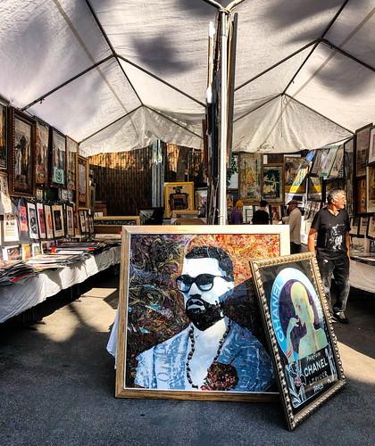 Kanye West Art at at Melrose Trading Post - West Hollywood, CA