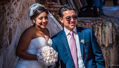 2018 - Mexico - Oaxaca - Wedding Day (Ted's photos - Returns late Feb) Tags: 2018 cropped mexico nikon nikond750 nikonfx oaxaca tedmcgrath tedsphotos tedsphotosmexico vignetting wedding newlyweds bouquet flowers veil sunglasses dnts teeth couple two duo bride groom bridegroom pose posing smiles candid weddingday
