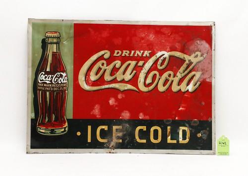 1930's Coca Cola metal sign ($235.20)