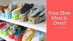 Shoe Rack Double Shoe Holder - A Shoe Storage Organizer Space Saving Storage Solution (CoolHomeStyling) Tags: shoe rack double holder a storage organizer space saving solution