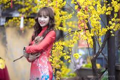 Chụp ảnh áo dài Tết - BeGiang