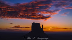 The Mitten's Siloutte (The Happy Traveller) Tags: oljatomonumentvalley arizona unitedstates us sunrisesunset sunrise cloudsstormssunsetssunrises