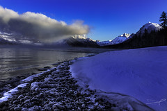 Lake Mac Cold III (steve rubin-writer) Tags: lake macdonald glacier national park montana us flickr flicker steve rubin writer ice snow mountain