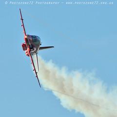 9891 Red 7 (photozone72) Tags: raf rafat redarrows reds redwhiteblue aviation aircraft hawk synchro lincolnshire scampton canon canon7dmk2 canon100400f4556lii 7dmk2