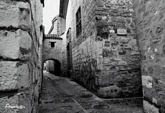 Calle medieval (Anavicor) Tags: street calle rue callejón medieval old antigua piedra stone baeza jaén andalucía españa spain espagne blancoynegro bn bw blackandwhite vanishingpoint puntodefuga arco nikon d5300 anavicor anavillar anavillarcorrero