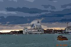 Venice 4354 cutout (m.c.g.owen) Tags: basilica di santa maria della salute venice italy vento italia venezia grand canal october 30th 2018 acqua alta 30 ottobre