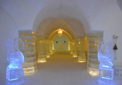 Sorrisniva Igloo Hotel (Seventh Heaven Photography *) Tags: sorrisniva igloo hotel ice alta norway finnmark sculptures chapel columns arches lighting nikond3200 snow water region polar northern swans
