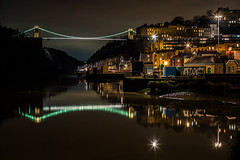 Avon Gorgeous....... (Dafydd Penguin) Tags: light trails sunstars stars long exposure tripod after dark night hawks city urban river avon gorge clifton dock lock harbour sea water buildings isambard kingdom brunel suspension bridge world heritage site reflections historic bristol uk high tide leica m10 summicron 50mm f2