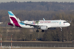 OE-IQD Airbus A320 Eurowings Munich airport EDDM 18.02-19 (rjonsen) Tags: plane airplane aircraft aviation airliner airside flying landing