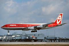 HK-1849 Avianca Columbia 707-321 at KMIA (GeorgeM757) Tags: hk1849 aviancacolumbia kmia 707 georgem757 aircraft aviation airplane airport boeing landing classic om2 n796pa cxbsb 707321 predigital