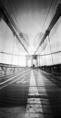 brooklyn bridge (the_lawson42) Tags: holgawpc fujiacros100 pinhole newyork happyaccidents film mediumformat doubleexposure