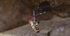 lightsaber fight (eltrueno) Tags: saber fight lego toy toys juguete juguetes pelea sable laser lightsaber star starwars la guerra de las galaxias espada darth vader obi wan