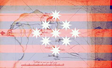 """Treaty of 10 Januari 1679 between the Dutch East India Company (VOC) and the leaders of the Minahassan people.  The name Minahasa means """"The Union of the Nine Tribes"""" after  the union concluded in the 15th century of the walak (tribes) living in the north"""