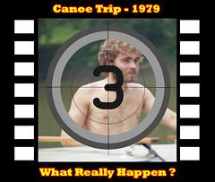 Coming Soon { High School Canoe Trip - 1979 } (#3) (Davey Z (2)) Tags: witness strange occurrences high school friends embark weekend canoe trip guys boys loading unloading jeans shorts beer car 1977 impala station wagon chevy goofing off summer break good times river park paddles coolers 17 18 davey z 1 2 3 rural ohio coming soon what really happen filmstrip