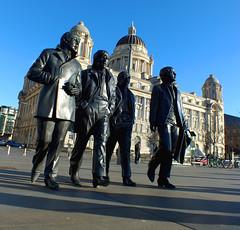 The Beatles | Cunard (cawsalex) Tags: beatles john lennon paul mccartney ringo starr george harrison liverpool river mersey cunard building titanic albert dock statue momument