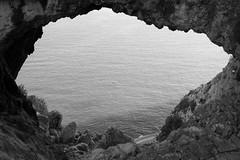 Grotta Dei Falsari, Liguria (fabiolug) Tags: grottadeifalsari grotta cave hole rock rocks boat road sea mediterraneansea mediterraneo marmediterraneo marligure martirreno noli nature liguria ligury italy italia leicammonochrom mmonochrom monochrom leicamonochrom leica leicam rangefinder blackandwhite blackwhite bw monochrome biancoenero voigtlandernoktonclassic35mmf14 voigtlandernokton35mmf14 voigtlander35mmf14 35mm voigtlander