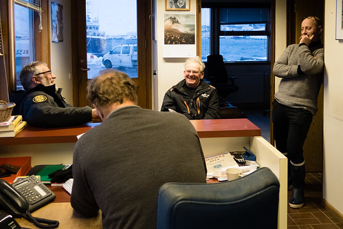 "Afternoon chat in the harbour office • <a style=""font-size:0.8em;"" href=""http://www.flickr.com/photos/22350928@N02/40109546993/"" target=""_blank"">View on Flickr</a>"