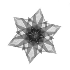Snowflake (guangxu233) Tags: snowflake paper art paperart paperfolding fold origami origamiart handmade 折纸 折り紙 折り紙作品
