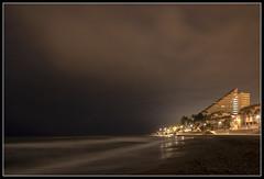46/365 Long exposure night shot photographed on the beach at Benalmadena. (B Ryder) Tags: nikon d500 18200mm wide angle long exposure night clouds beach
