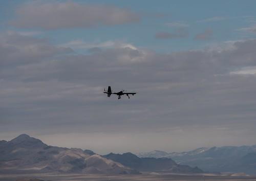 MQ-9 Reaper ( Predator B) drone at Creech Air Force Base in Indian Springs, Nevada