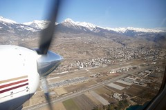 flying by Sion Airport Switzerland (roli_b) Tags: flying by sion sitten airport sir aeroport aeropuerto flughafen flugplatz weinrebe panorama panoramic view valais wallis winter 2019 mountains berge montañas aerial luftaufnahme luftbild window seat plane aircraft airplane flugzeug flieger avion aereo aviacao aviation switzerland schweiz suisse suiza svizzera