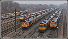 Doncaster Down Decoy Yard (Mark's Train pictures) Tags: class66 class66shed 66175 gbrf gbrailfreight 66755 66781 66785 91114