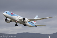 G-TUIE Boeing 787-8 TUI Glasgow airport EGPF 12.03-19 (rjonsen) Tags: plane airplane aircraft aviation airliner dreamliner takeoff departure liftoff clouds cloudscape