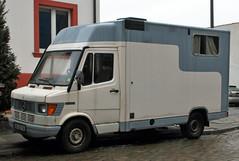 Delivery van camper (Schwanzus_Longus) Tags: bremen woltmershausen german germany old classic vintage vehicle panel box delivery van mercedes benz 308d camper