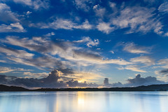 Full of Sky Morning Waterscape (Merrillie) Tags: daybreak woywoy landscape nature bay reflections foreshore newsouthwales clouds earlymorning nsw brisbanewater australia cloudy morning coastal water outdoors waterscape sunrise centralcoast sky dawn