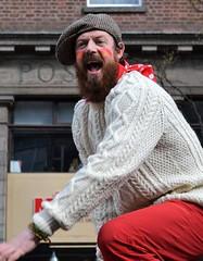 exuberance (conall..) Tags: aran jumper wool sweater aranjumper jersey beard bearded man nikon afs nikkor f18g lens 50mm prime primelens nikonafsnikkorf18g st patrick's day parade belfast 2019 citycentre belfaststpats