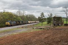 CSX G154-06 at The Furnace (travisnewman100) Tags: csx train railroad rr freight unit grain ac44cw es40dc ge yn2 yn3 wa subdivision atlanta division g154 kingston georgia