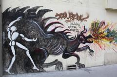 Jérôme Mesnager_5245 rue Petit Paris 19 (meuh1246) Tags: streetart paris animaux jérômemesnager ruepetit paris19 dragon