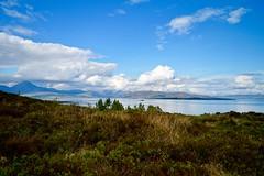Over the sea to Skye (rustyruth1959) Tags: alamy cuillin hills sea sky clouds fern grass greenery a87 island calm auchtertyre balmacara seascape landscape mountains coast water loch skye isleofskye lochalsh scotland uk nikon1855mm nikond3200 nikon mainland bay outdoor