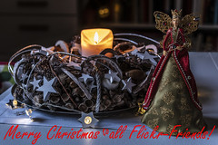 I wish you all a wonderful Christmas! (the-father) Tags: christmas wishes candle