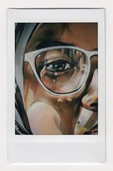 (Hem.Odd) Tags: malaysia kualalumpur graffiti wallpainting glasses instaxmini90 instant fujifilm face