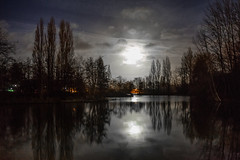 la gare d'eau bethune france (chrisimages1) Tags: 35mm samyang a7 sony moon reflection france nuit night