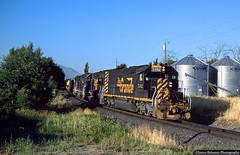 Westward on the Eastward (jamesbelmont) Tags: rio grande drgw springville utah emd sd40t2 tunnelmotor railroad railway train locomotive