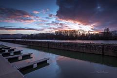 Ecluse (Stéphane Sélo Photographies) Tags: ain canon1740f4 canon6dmarkii france aqua coucherdesoleil eau landscape lumière massieux paysage rivière sunset water écluse