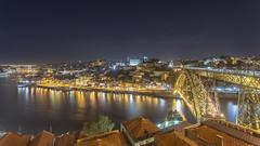 Porto (Elyssa Drivas) Tags: porto portugal longexposure night nightphotography nightscape nightlife nightlight nightshooters bridge river douroriver lights vacation travel tourist cured lit beautiful beauty old historical history