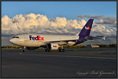 N809FD Federal Express FedEx (Bob Garrard) Tags: n809fd federal express fedex airbus a310 anc panc sunset