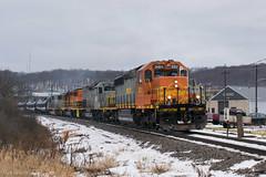 B&P BTRI @ East Butler, PA (Dan A. Davis) Tags: buffalopittsburgh bprr bp gw geneseewyoming sd402 sd40t2 sd50 ltex freighttrain train locomotive railroad pa pennsylvania butler wcor wellsboroandcorning