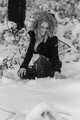 DSCF3582-2.jpg (RHMImages) Tags: xt3 portrait monochrome blackandwhite winter tahoenationalforest teen bnw fuji annalisenobile model omegadiggens nevadacity fujifilm snow