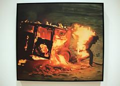Burning Man, by Vija Celmins (JB by the Sea) Tags: sanfrancisco california december2018 financialdistrict sanfranciscomuseumofmodernart sfmoma vijacelmins painting