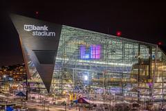 US Bank Stadium, Minneapolis, MN (Chad Davis.) Tags: superbowl nfl minnesota minneapolis usbank usbankstadium stadium nflstadium longexposure nightphotography lii