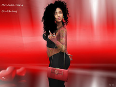 moncada paris-clutch bag (syldinzel) Tags: paris clutch bag second life mesh bento accessories fatpack red dj syl dinzel picture woman mode model genus freya moncada