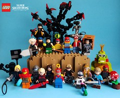 Ultimate (Jacob Mohler) Tags: lego smash bros ultimate nintendo switch contest piranha plant king k rool link ganondorf zelda inkling splatoon simon belmont richter castlevania super mario fludd shulk xenoblade dark samus zero suit mr game watch solid snake rob pokemon trainer captain falcon ness earthbound dharkon little mac punchout ike fire emblem cloud final fantasy bayonetta